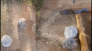 2 cha con nhặt 'hòn đá đặc biệt' ở bờ biển, khi đập ra mới phát hiện mình quá may mắn