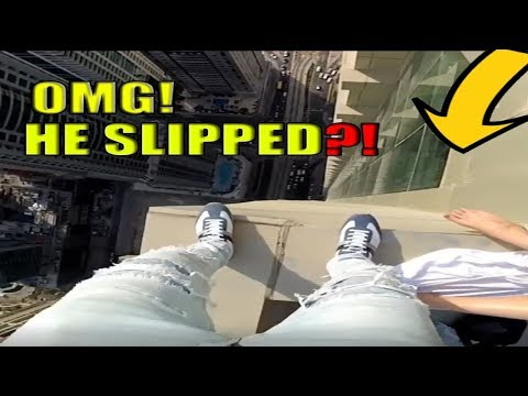 HE ALMOST SLIPPED?! |TRY NOT TO GET ANXIETY | Extreme Stunts | Part 1 |Scary IMPOSSIBLE!