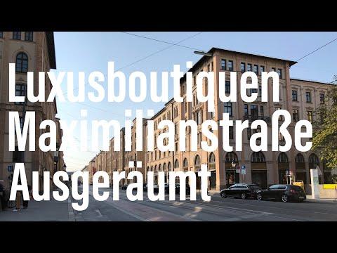 Corona-Wahnsinn: Luxusboutiquen Maximilianstraße Komplett Ausgeräumt