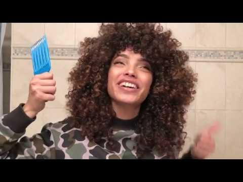 BIG CURLY FRO HAIR ROUTINE!