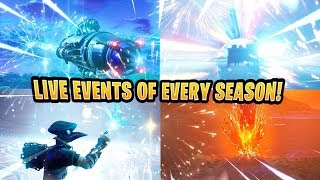 Every Fortnite Live Event So Far..! - (Season 3 - Season 9)