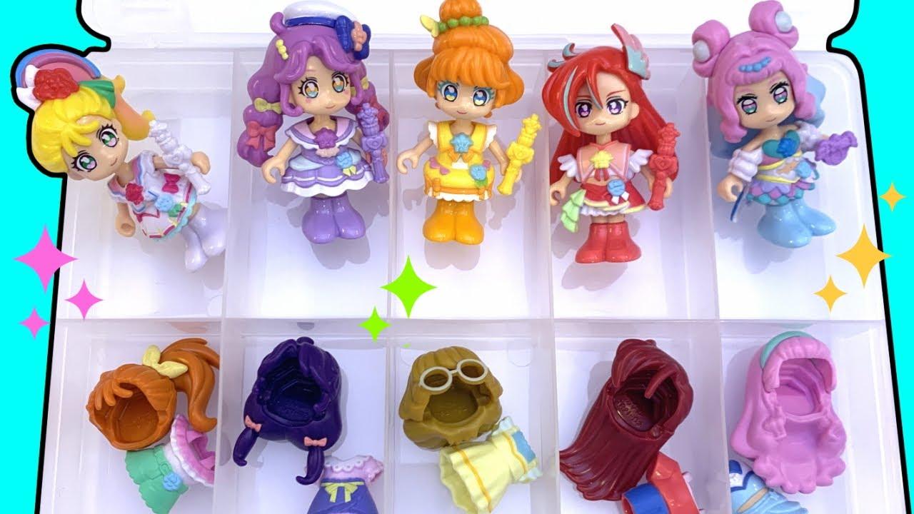 プリキュアおもちゃ収納★トロピカル~ジュプリキュアの人形お引越し🚚100円ショップのケースSIKIRIにお片付け!