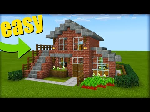 Minecraft Tutorial How To Make A Brick House 2019 Tutorial Youtube