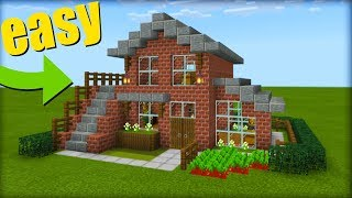 minecraft Tutorial: How To Make A Brick House