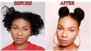 Pigtail Buns On Short Natural Hair