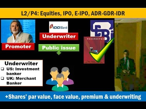 L2/P4: Equities: IPO, E-IPO, ADR-GDR-IDR, Bonus shares, preferential shares & Underwriters