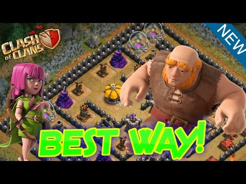 Clash of Clans - How to beat Sherbet Towers ''NEW EASIEST WAY!''