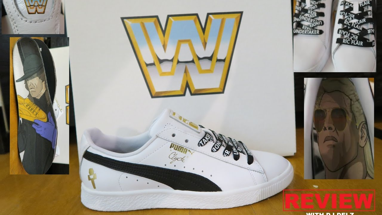 WWE PUMA CLYDE THE UNDERTAKER   RIC FLAIR SNEAKER DETAILED REVIEWS ... 4624b505f