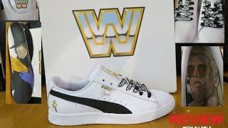 WWE PUMA CLYDE THE UNDERTAKER & RIC FLAIR SNEAKER DETAILED REVIEWS
