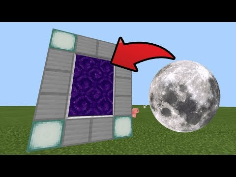 How To Make A Portal To The Moon DIMENSION In Minecraft Pocket Edition