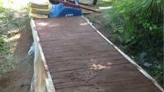 Bridge Wood Plank Texture In Concrete