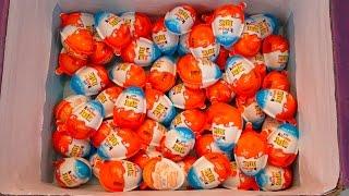 50 Transformers Edition Kinder Joy Surprise eggs unboxing