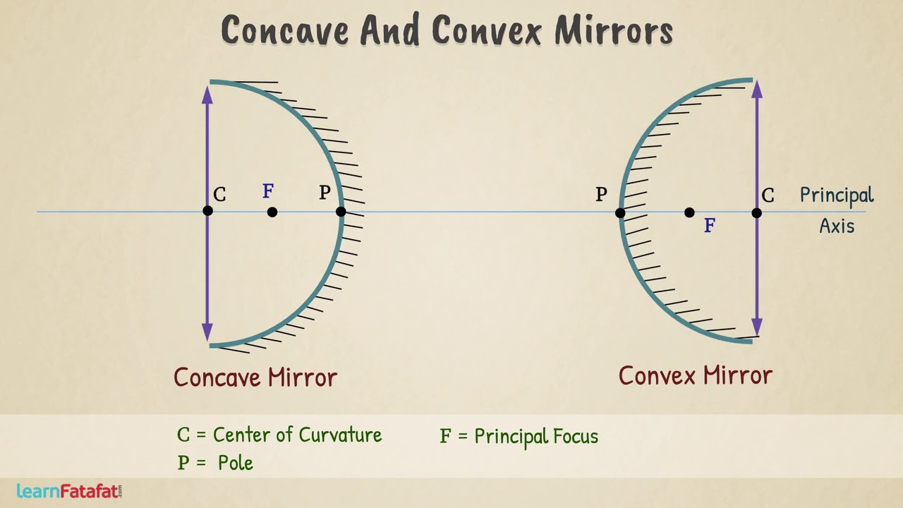 medium resolution of Concave and Convex Mirror Class 7 Light Science - YouTube