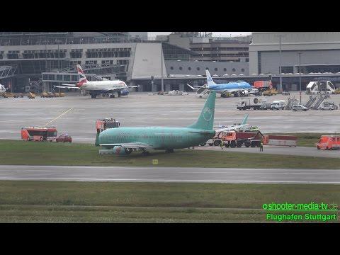 HAVARIE EINER BOEING 737 - Großalarm am Flughafen Stuttgart   [AIRPORT CLOSED] - [E]