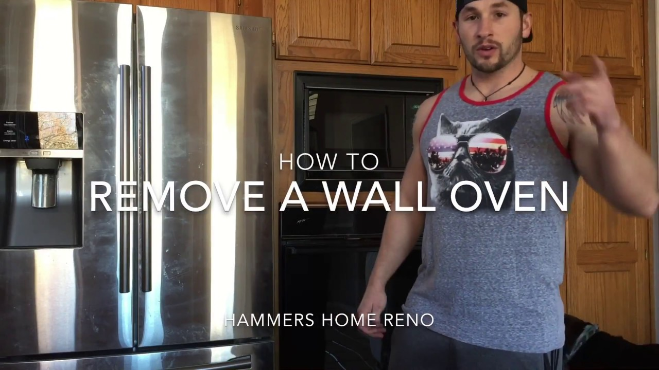 How To Remove A Wall Oven Youtube