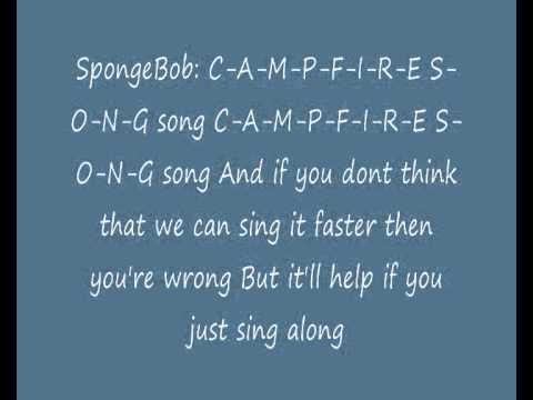 SpongeBob SquarePants - The Campfire Song Song (Lyrics ...