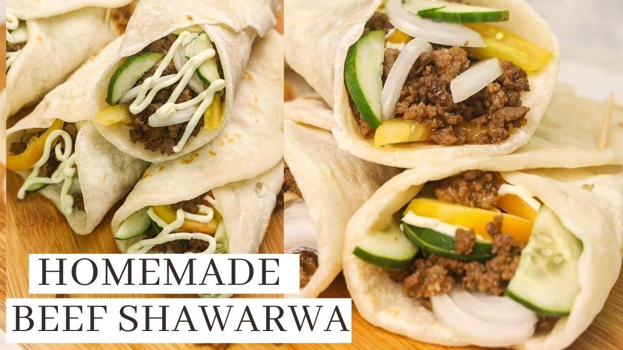 Homemade Beef Shawarma With Garlic Mayo Sauce - Pinoy Recipe