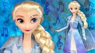 """Frozen 2: Elsa singing doll """"Into the Unknown"""" Review/Unboxing (DisneyStore)"""