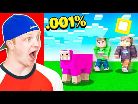 First To Find PINK SHEEP In Minecraft WINS!