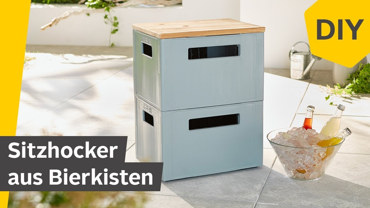 diy sitzhocker partyhocker aus bierkisten selber bauen roombeez powered by otto youtube. Black Bedroom Furniture Sets. Home Design Ideas