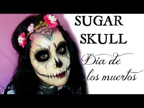 sugar skull / maquillage halloween facile / halloween