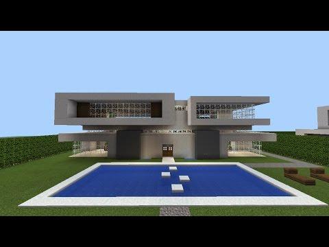 Villa moderne Minecraft pe | SERVEUR de l'architecte - YouTube