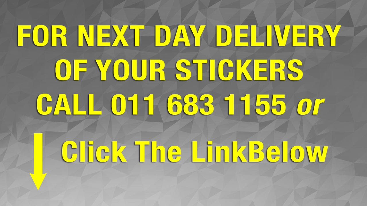 Custom Vinyl Stickers South Africa Top Quality Johannesburg Call - Custom vinyl stickers johannesburg
