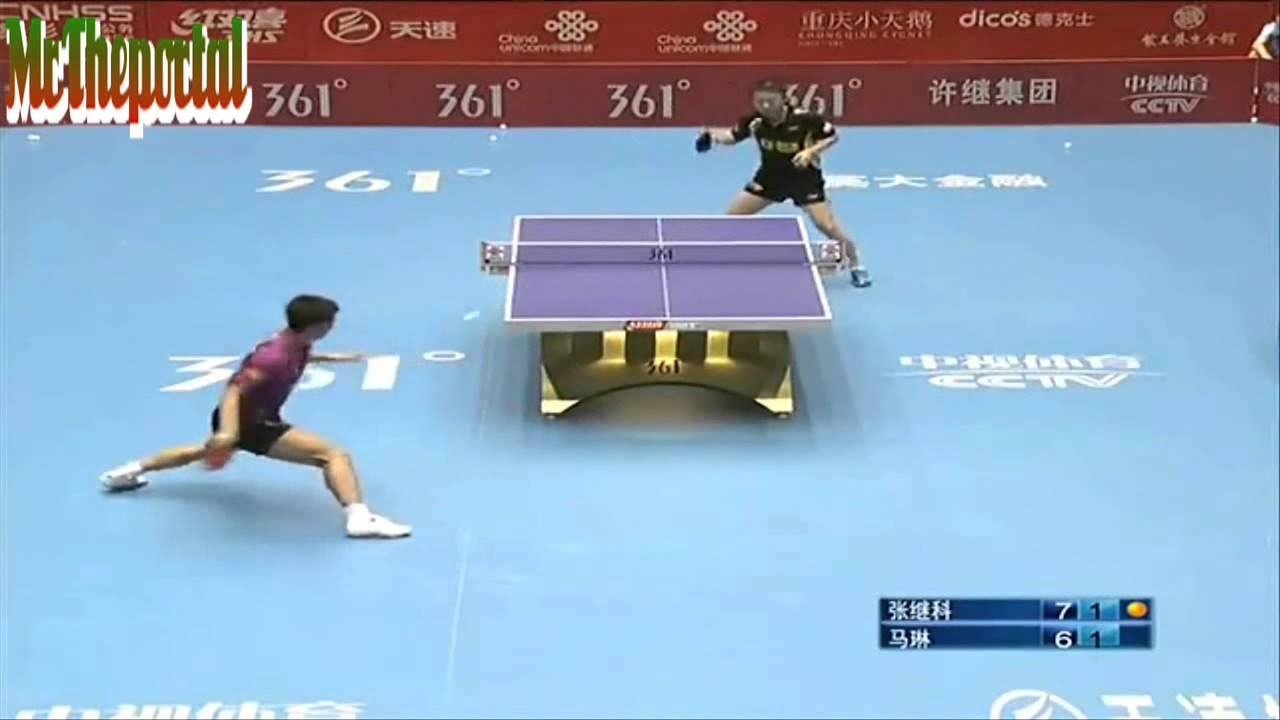 China Table Tennis Super League 2013 Zhang Jike Vs Ma Lin