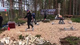 Svenska landslaget i Stihl Timbersport med Ferry Svan. Del 2