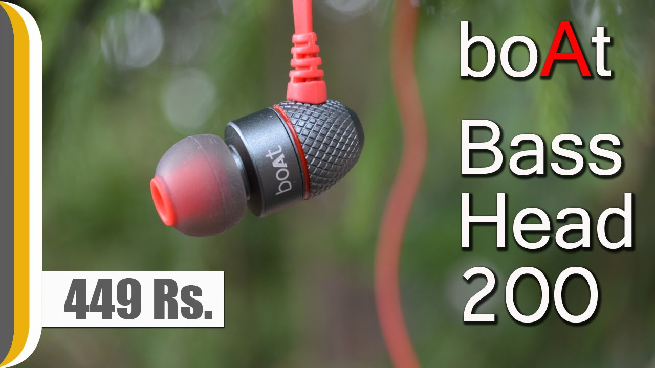 74c9d4a4f6d [Hindi] boAt BassHeads 200 In Ear Wired With Mic Earphones Red REVIEW -  YouTube