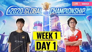 [Bahasa] PMGC 2020 League W1D1 | Qualcomm | PUBG MOBILE Global Championship | Week 1 Day 1