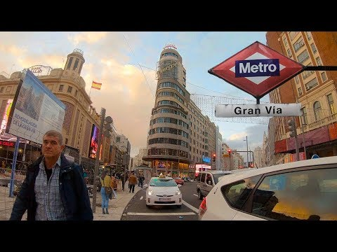 MADRID, GRAN VIA — Spain (España) Walking Tour【4K】🇪🇸