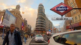 MADRID, GRAN VIA — Spain (España) Walking Tour【4K】🇪🇸