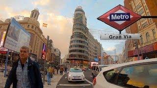 Madrid, Gran Via — Spain (españa) Walking Tour【4k】