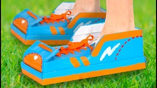 Craft Ideas with Boxes - Trainers - Cardboard Shoes | DIY on Box Yourself