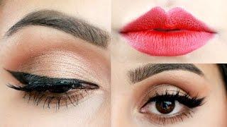 Maquillaje Clásico: Delineado de Gato y Labios Rojos