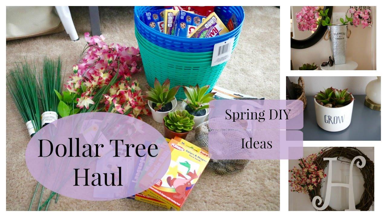Dollar Tree Haul Spring Diy Ideas 2016 Youtube
