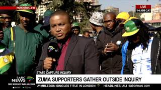 Zuma supporters continue to gather outside State Capture Inquiry