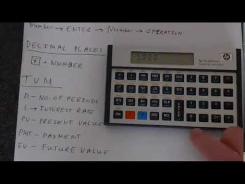 getting started with an hp 12c financial calculator youtube rh youtube com HP 12C Calculator HP 12C Calculator