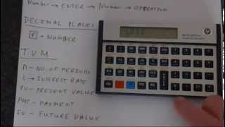 Getting Started with An HP 12C Financial Calculator