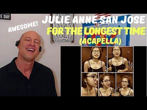 Julie Anne San Jose | FOR THE LONGEST TIME (Acapella Cover) | REACTION