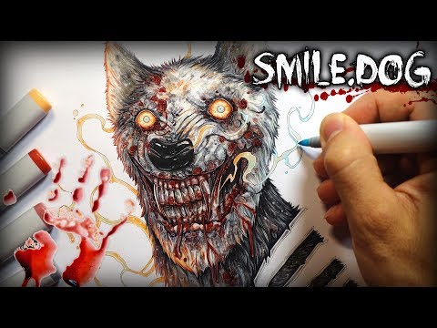 """Smile.dog"" Horror Story - Creepypasta + Drawing"