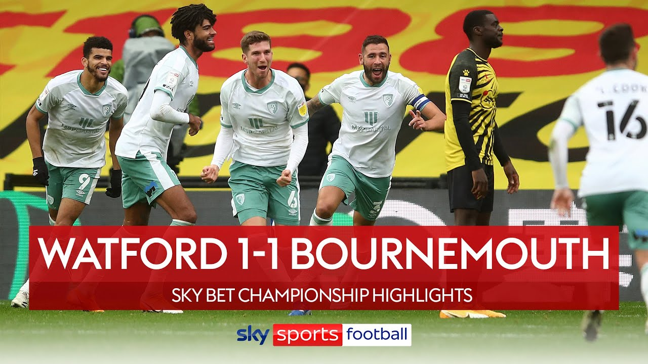 Mepham's injury-time strike rescues point for Cherries! | Watford 1-1 Bournemouth | EFL Highlights