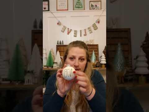 Rae Dunn Inspired Christmas Ornaments Tutorial