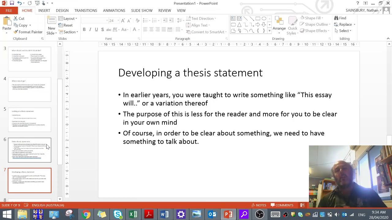 Choosing a dissertation research question