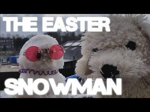 Fluffy Dog - The Easter Snowman