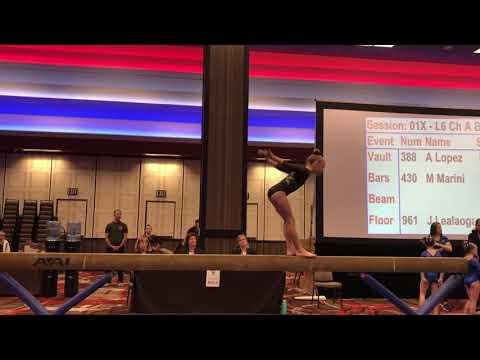 Audrey Jackson 2nd Place Beam 2019 Region 1 Championships