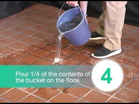Quarry Tile Cleaning Demonstration Youtube