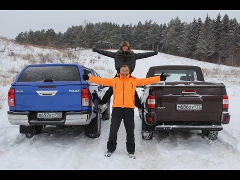 УАЗ Пикап – Тойота Хайлюкс рвали друг-друга, но лопнул трос