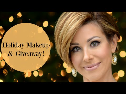 Golden Holiday Makeup Tutorial & Giveaway!